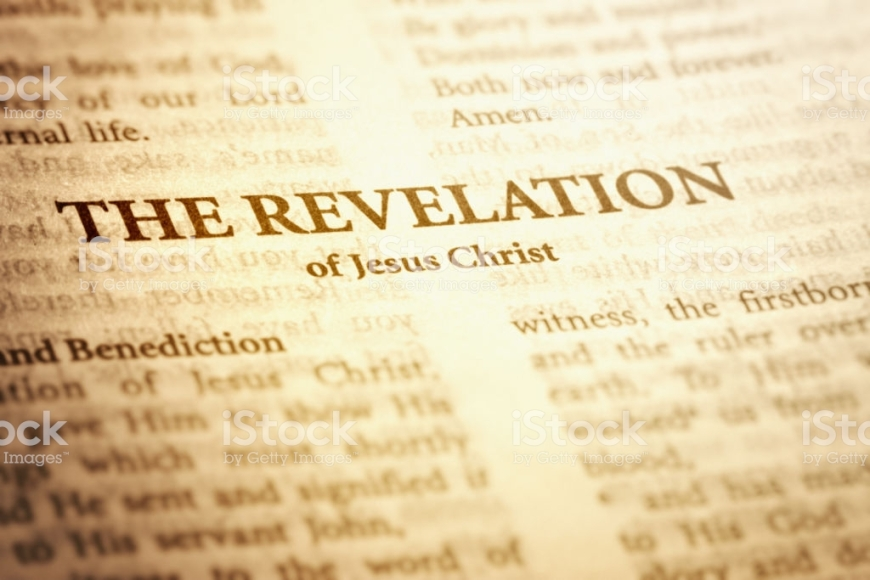 The title page of the last book of the Bible - The Revelation of Jesus Christ.